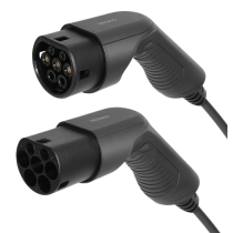 EV-Charging cable DELTACO Type 2 - Type 2, 1 phase, 16A, 3.6KW, 7m, black / EV-1207