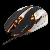 Mouse DELTACO GAMING wired, 1000 - 3200 DPI, orange light, USB, black / GAM-020