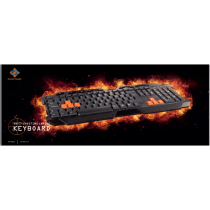 Keyboard DELTACO GAMING UK, USB, black / GAM-024UK