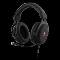 Headset DELTACO GAMING 2 x 3.5 mm, LED, 20Hz - 20kHz, black / GAM-030
