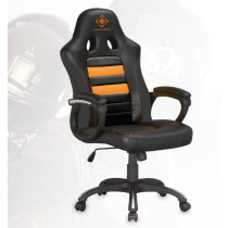 Gaming chair Racer, PU-leather, height and adjustable, black/orange DELTACO GAMING / GAM-050