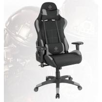 Gaming chair in nylon, neck pillow, back cushion, black/gray DELTACO GAMING / GAM-051