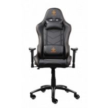 Gaming chair DELTACO GAMING PU leather, black/orange  / GAM-052