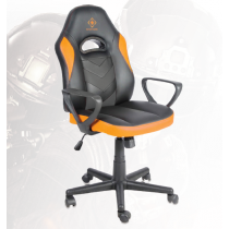 Gaming chair, PU-leather, height-adjustable, black/orange DELTACO GAMING / GAM-053