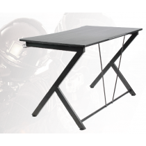 Gaming table DELTACO GAMING metal legs, PVC treated surface, built-in hanger for headset, black / GAM-055
