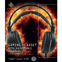 Stereo headset DELTACO GAMING  2 x 3.5 mm, LED, 2 m cable, black / GAM-069