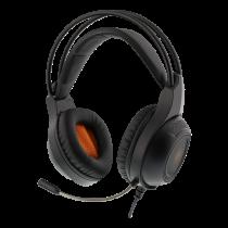 Headset DELTACO GAMING 2 x 3.5 mm, LED, 20Hz - 20kHz, black / GAM-069