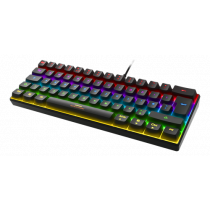 Keyboard DELTACO GAMING mini mechanical, UK, RGB, black / GAM-075-UK