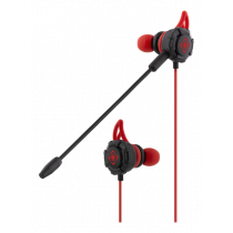GAMING In-ear headset with detachable microphone and earwings DELTACO / GAM-076