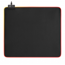 Mouse pad DELTACO GAMING 6xRGB Modes, 7xStatic Modes, 450x400x4mm, black / GAM-078