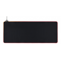 Mouse pad DELTACO GAMING 6xRGB Modes, 7xStatic Modes, 900x360x4mm, black / GAM-079