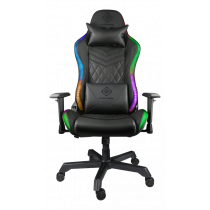 Gaming chair DELTACO GAMING PU leather, RGB, black / GAM-080