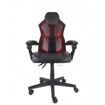 Gaming chair DELTACO GAMING PU leather, RGB, black / GAM-086