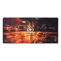 Mouse pad DELTACO GAMING XL, 900x400x4mm, black with abstract pattern / GAM-098