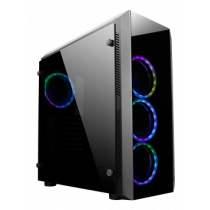 """ATX """"Gaming"""" chassis with tempered glass and pre-installed RGB fans CHIEFTEC black / GL-02B-OP"""