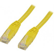 Cable DELTACO U / UTP Cat5e 1.0m, yellow / GL1-TP