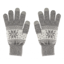 Gloves for touch screens STREETZ, grey, size S / GLV-104