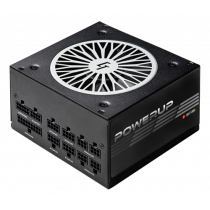 Chieftec PowerUp series 550 W PSU, 80+ gold, ATX 12V ver 2.53, black / GPX-550FC