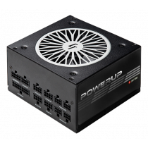 Chieftec PowerUp series 650 W PSU, 80+ gold, ATX 12V ver 2.53, black / GPX-650FC