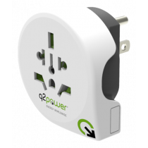 Adapter Q2Power į USA, 10A, white / GT-902