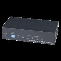 HDMI splitter Deltacoimp 3840x2160, 60Hz, HDMI 2.0, HDCP 2.2, black / HD04-4K6G