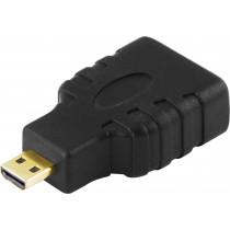 Adapter DELTACO HDMI High Speed Micro HDMI ha - HDMI ho / HDMI-24