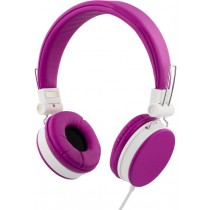 Headphones STREETZ foldable, with microphone, rose / HL-225