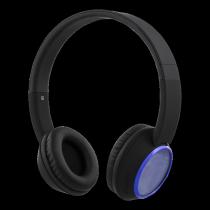 Headphones STREETZ, bluetooth, black-blue / HL-346