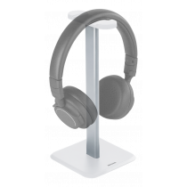 Deltaco Headphone Stand, Aluminum, Anti-slip, White HLS-100