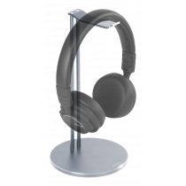 DELTACO Universal Headphone Stand, Aluminum, Anti-slip, Silver  HLS-101