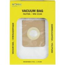 Dust bags Nordic Quality MNI2156 Nilfisk 5pcs + 1 filter / 358511