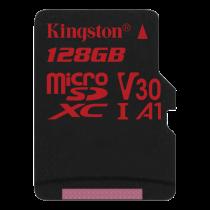 Kingston Canvas React microSDXC card, 128GB, black SDCR/128GBSP / KING-2608