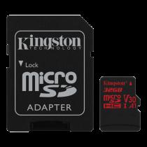 Kingston Canvas React microSDHC card, 32GB, incl. SD card adapter, black SDCR/32GB / KING-2609