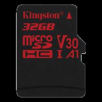 Kingston Canvas React microSDHC card, 32GB, black / KING-2610