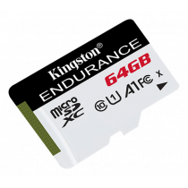 Kingston Endurance microSDHC card, 64GB, UHS-I, Class 10, 95MB / s read, 45MB / s write, black / KING-2814