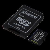 Kingston Canvas Select Plus MicroSDXC, 64GB, Class 10 UHS-I, incl. adapter, black KING-2986