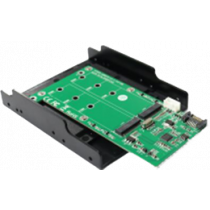 "Dual M.2 SATA for SATA, 3.5 ""mounting, NGFF DELTACOIMP green / KT022B"