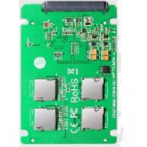 4x Micro SD card to SATA expansion card, RAID 0 support, 22pin SATA DELTACOIMP green / KT037B
