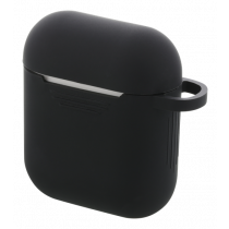 DELTACO AirPods Silicon Case, Black / MCASE-AIRPS001