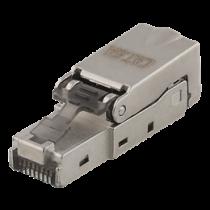 RJ45 plug Cat6A, shielded, tool-less DELTACO metal / MD-106
