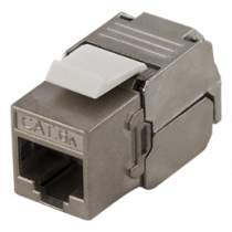 "FTP Cat6a Keystone connector, screened, 22-26AWG, ""Tool-free"" DELTACO MD-112"