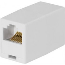Modular Carrier 8P / 8C, Unshielded, RJ45 DELTACO white / MD-11B