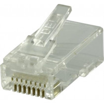 DELTACO RJ45 connector for patch cable, Cat6 UTP, 2-piece, 20-pack / MD-18