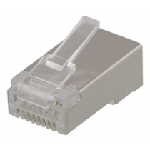 DELTACO RJ45 connector for patch cable, Cat6a, shielded, 20pcs MD-21S
