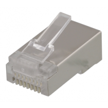 RJ45 connector for patch cable, Cat5e, shielded, 20pcs DELTACO / MD-3S