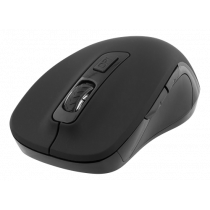 DELTACO Optical quiet mouse, wireless, soft-touch rubber, 600-1200 DPI, black / MS-762