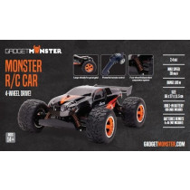 Monster car GADGETMONSTER  4-wheel drive, up to 30km/h, 100m range / GDM-1053