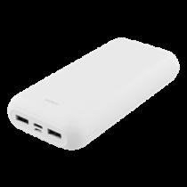 Power bank DELTACO 20 000 mAh, USB-C, 2x USB-A, 2.1A, LED indicator, white / PB-1066