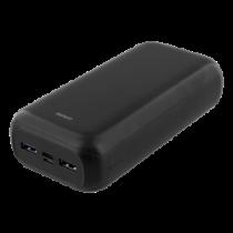 Power bank DELTACO 30 000 mAh, USB-C, 2x USB-A, 2.1A, LED indicator / PB-1069