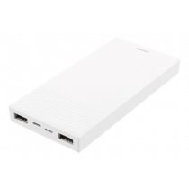 Power bank DELTACO 10000mAh, 2.1A, Output::2xUSB, input:1 x Lightning / 1 x USB micro-B, white / PB-817